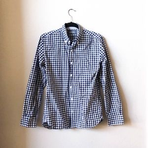 BONOBOS Slim Fit Washed Button Down Gingham Shirt